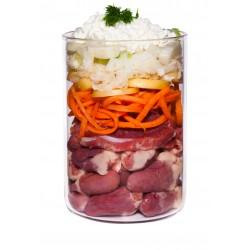 Телятина с морковью, фенхелем, творогом и ромашкой, 400 гр.